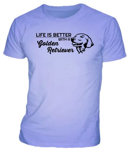 Life is better with a golden retriever T-shirt Uni