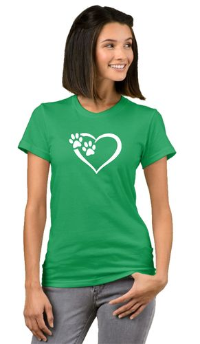 Dog Heart Stretch T-paita Lady