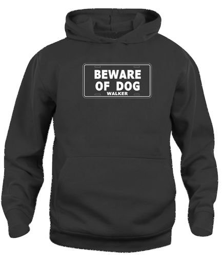 Beware of dog walker huppari hoody Heijastinlogolla