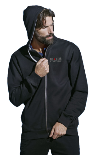 All Star Dad  Full Zip hoody.Super Dad Asennepaita