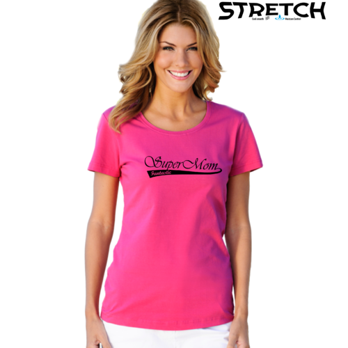 Super Mom Fantastic Stretch t-Paita.Asennepaita