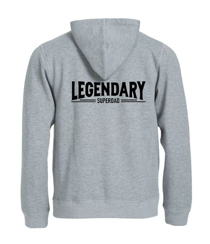 Legendary Super Dad Full Zip hoody.Super Dad Asennepaita